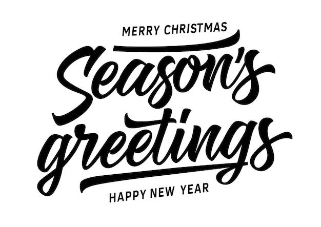 Merry christmas seasons greetings inscripción