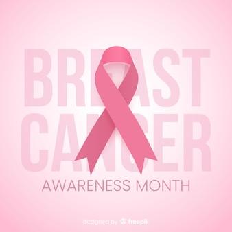 Mes de concientización para el diseño plano del cáncer de mama