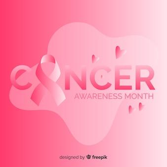 Mes de concientización sobre el cáncer con cinta