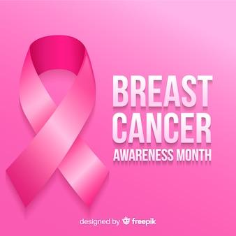Mes de concientización sobre el cáncer de mama con cinta