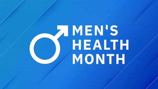 Mes de la salud masculina. banner de atención médica