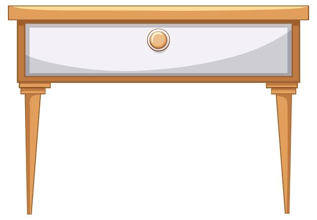 Mesa con muebles de cajones para diseño de interiores.