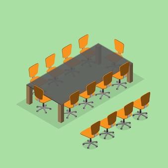 Mesa y silla en la sala de reuniones