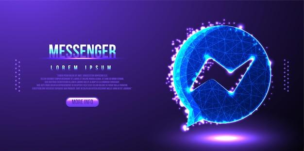 Messenger estructura de alambre de baja poli