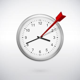 Metáfora empresarial el tiempo es dinero, concepto de proceso de planificación de la gestión del tiempo