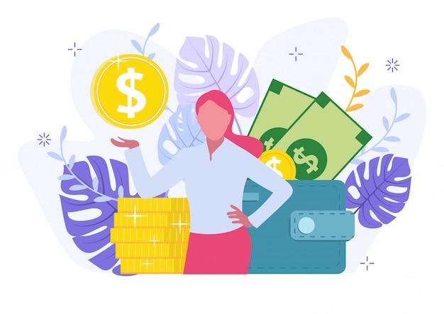 Metáfora de objetivo financiero personal cartoon