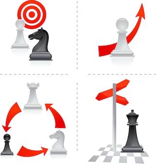 Metáforas del ajedrez en los negocios: objetivos y elecciones