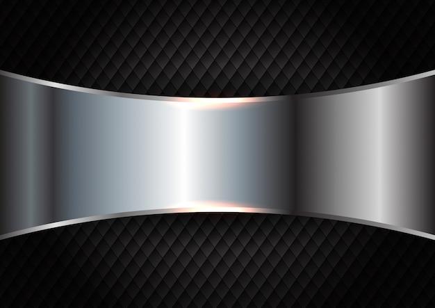 Metal cepillado en el fondo oscuro de la textura