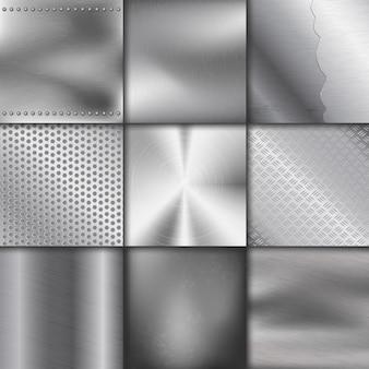 Metal textura patrón fondo metálico ilustración fondo efecto brillante