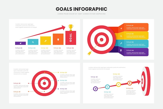 Metas estilo infográfico