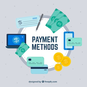 Métodos de pago con círculo