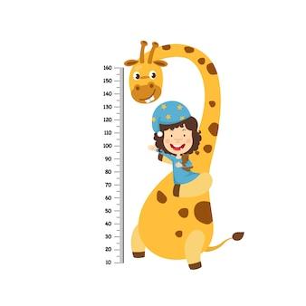 Metro de pared con niño y niña. ilustración vectorial
