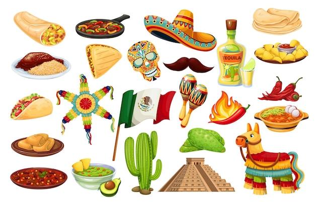 México iconos carnaval cinco de mayo