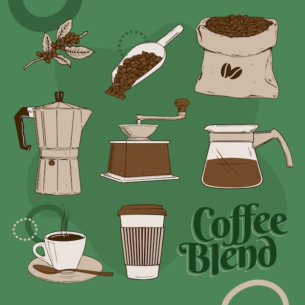 La niña sirve café de la cafetera a la taza de café. métodos