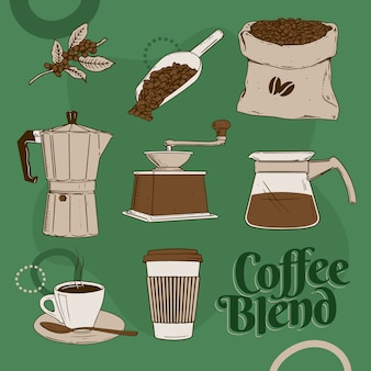Mezcla de cafe