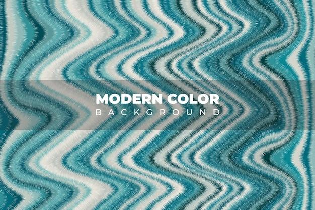 Mezcla de pinturas acrílicas textura líquida color de arte fluido con fondo de onda de color verde azul