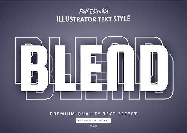 Mezclar efecto de estilo de texto de sombra