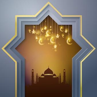 Mezquita de fondo islámico