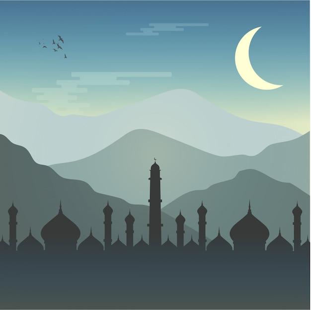 Mezquita ramadán musulmán