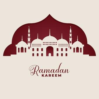Mezquita siluetas ramadan kareem fondo islámico
