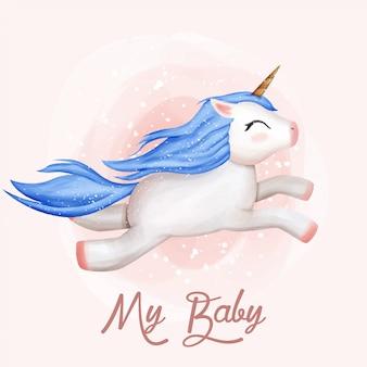 Mi bebé unicornio lindo volando