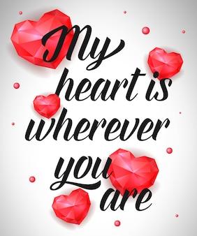 Mi corazón está donde sea que estés escribiendo