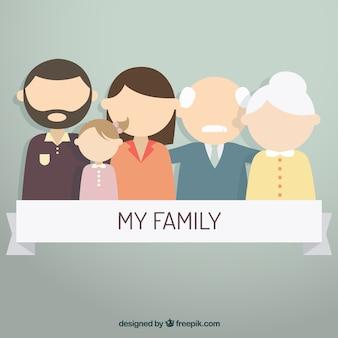 Mi familia Vector Premium