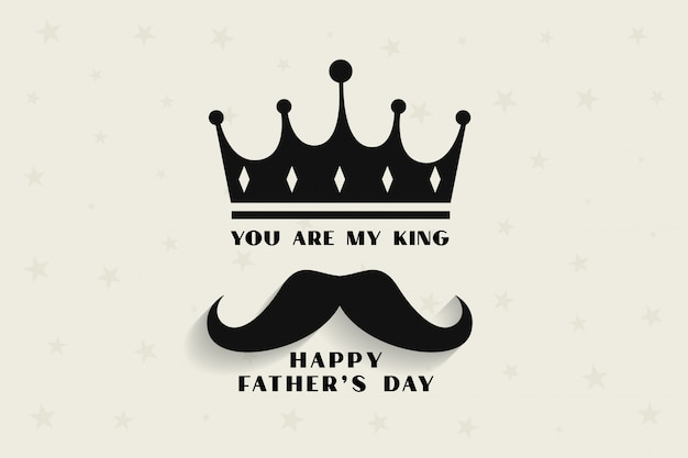 Mi padre, mi rey concepto para el día del padre
