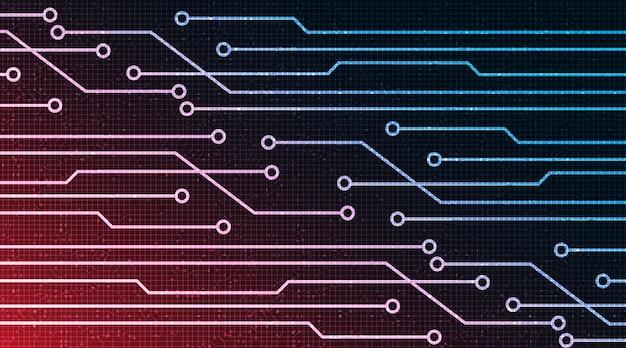 Microchip digital sobre fondo de tecnología diseño de concepto digital de alta tecnología