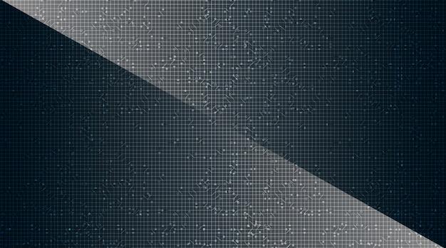 Microchip moderno sobre tecnología de fondo, alta tecnología digital y diseño de concepto de seguridad