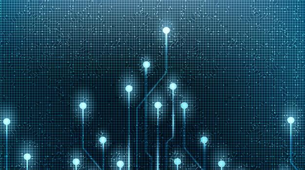 Microchip de tecnología de luz sobre fondo futuro, diseño de alta tecnología digital y concepto de seguridad