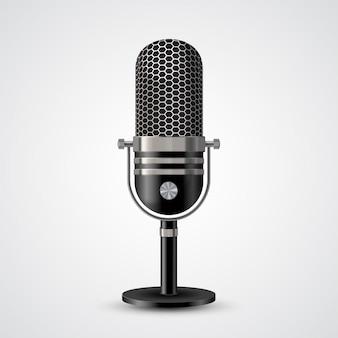 Micrófono en blanco