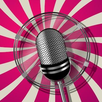 Micrófono de estilo retro.