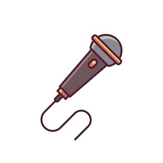 Micrófono minimal icon design vector illustration