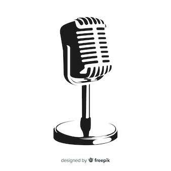 Micrófono vintage dibujado a mano