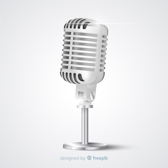 Micrófono vintage realista