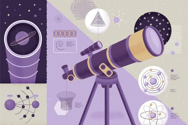 Microscopio en la sala concepto de regreso a la escuela