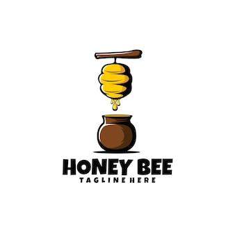 Miel de abeja con ilustración de barril