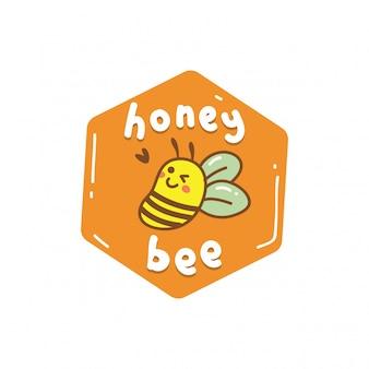 Miel linda abeja