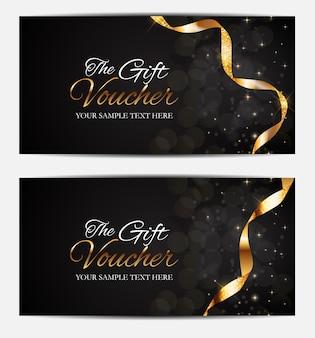 Miembros de lujo, plantilla de tarjeta de regalo para su negocio