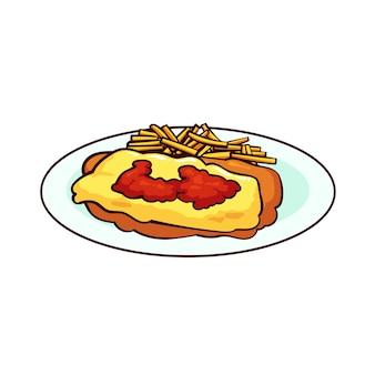 Milanesa es una comida típica de argentina