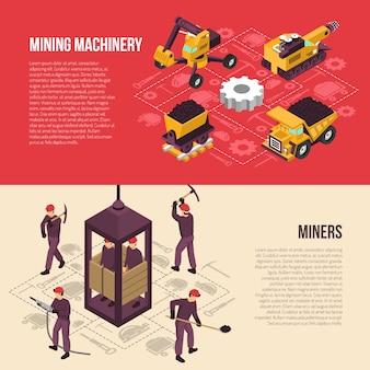 Minería de carbón 2 banners horizontales
