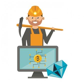Minería e inversión de bitcoins