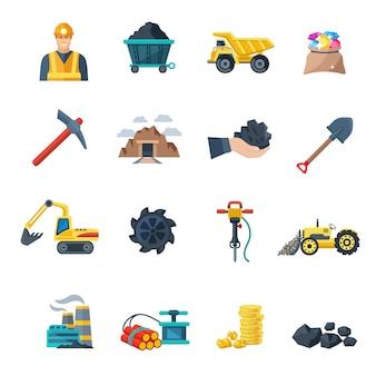 Minería y equipos de extracción de minerales.