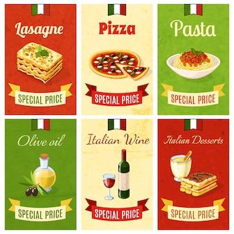 Mini cartel de la comida italiana
