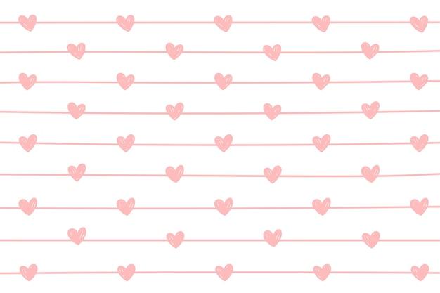 Mini corazón y fondo de línea.