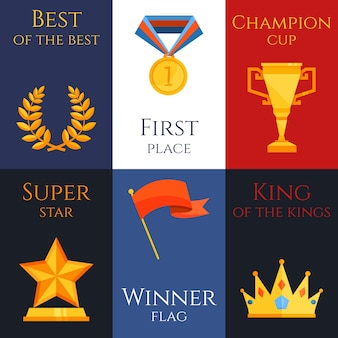 Mini set de póster de premio