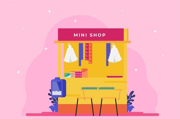 Mini shop illustration