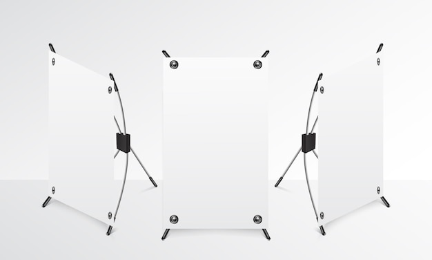 Mini standing banner realistic mock up