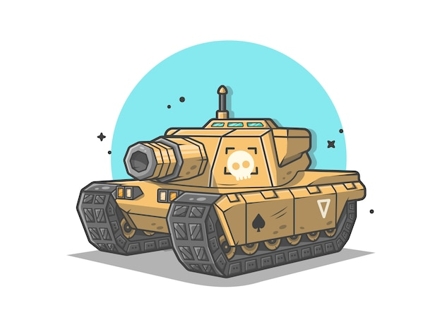 Mini tanque guerra vector icono ilustración